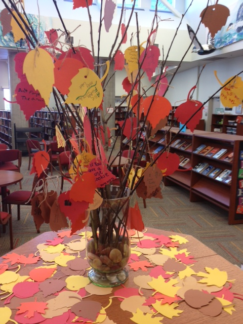 Thanksgiving Tree Library Displays